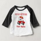 First Birthday Fire Truck Baby T-Shirt