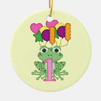 First Birthday Frog ornament