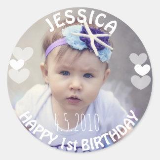 First Birthday Girl Sticker