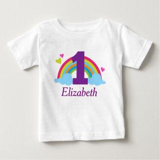 First Birthday Girls Rainbow Personalized T-shirt