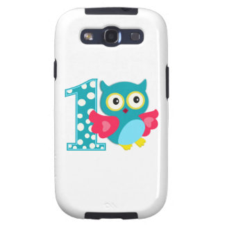 First Birthday Happy Owl Galaxy S3 Cover