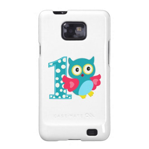 First Birthday Happy Owl Samsung Galaxy S2 Covers