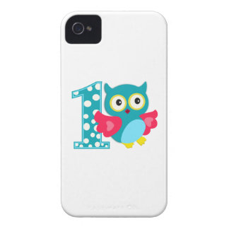 First Birthday Happy Owl iPhone 4 Case-Mate Cases
