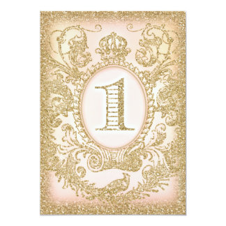 "First Birthday Once Upon a Time Princess 5"" X 7"" Invitation Card"