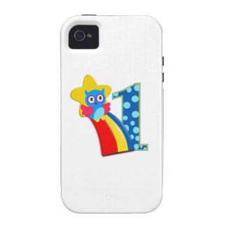 First Birthday Owl Case-Mate iPhone 4 Case
