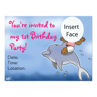 First Birthday Party Girl Invitation 2