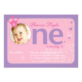 FIRST BIRTHDAY PARTY INVITES number one 2
