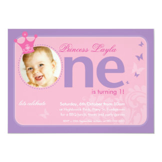 FIRST BIRTHDAY PARTY INVITES :: number one 2
