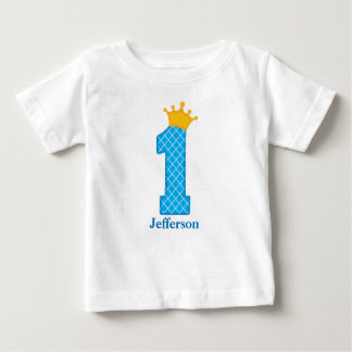 First Birthday Prince Tshirt Personalized