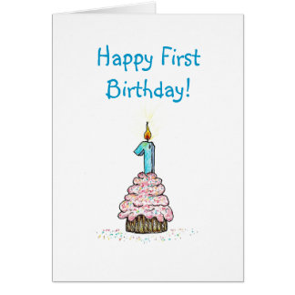 First Birthday Religious Card