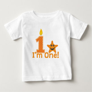 First Birthday Starfish Baby T-Shirt