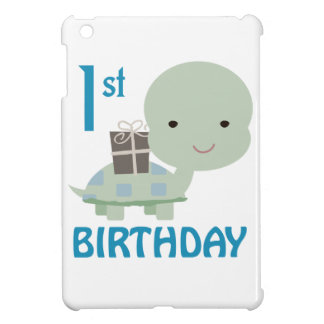 FIRST BIRTHDAY TURTLE iPad MINI COVER