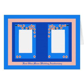 First Blue Moon Wedding Anniversary Card