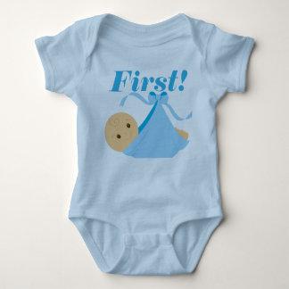 First! Bodysuit for Baby Boy