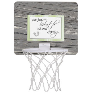 First Breath Mini Basketball Hoop