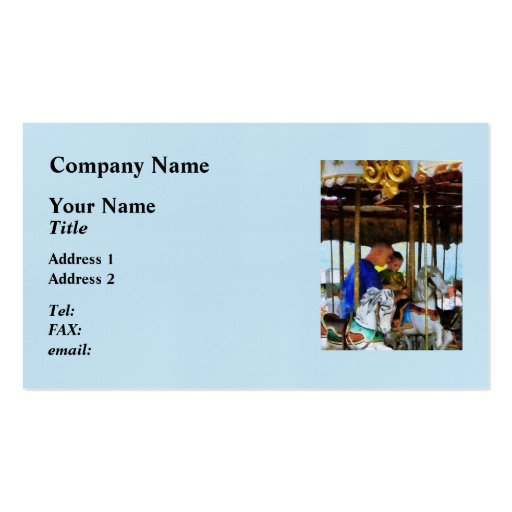 First Carousel Ride Business Card Template