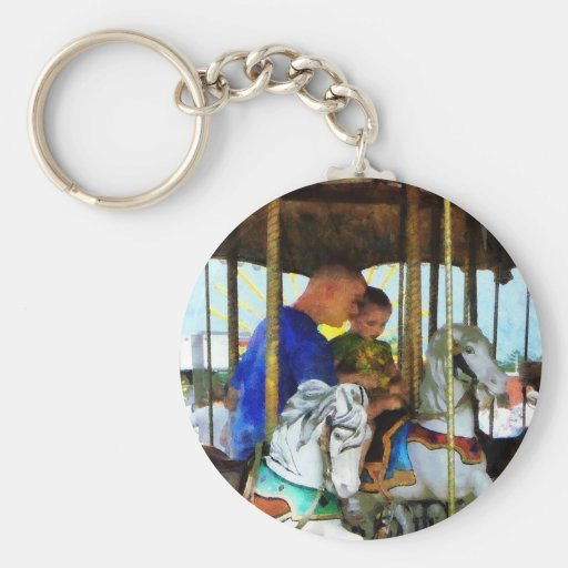 First Carousel Ride Keychain