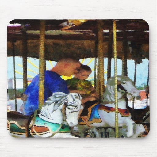 First Carousel Ride Mouse Pad