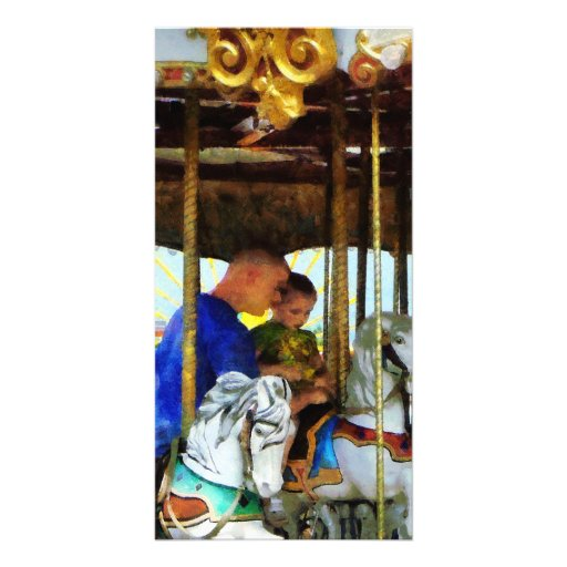 First Carousel Ride Photo Card Template