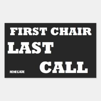 First Chair-Last Call Sticker