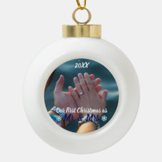 First Christmas as Mr and Mrs Ornament