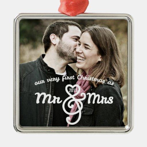 First Christmas as Mr & Mrs Keepsake Ornament