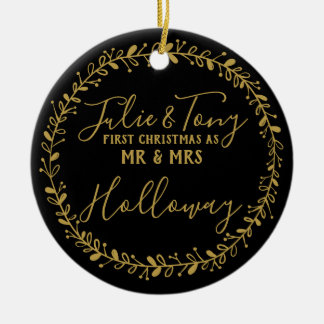 first Christmas as Mr &  Mrs tree Ornament -