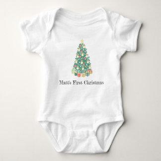 First Christmas Bodysuit, My first Christmas, Xmas Baby Bodysuit