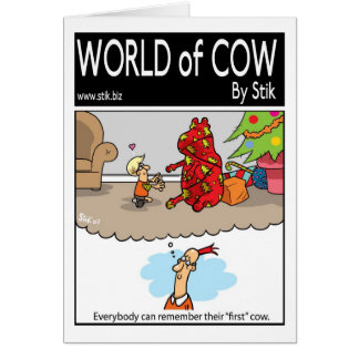 First Christmas Cow Greeting Card