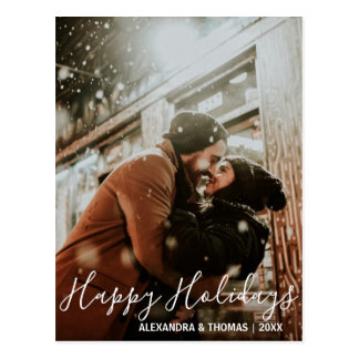 First Christmas Holidays Married Engaged | PHOTO Postcard