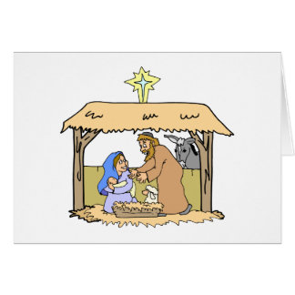 First Christmas Manger Scene Holiday Cards