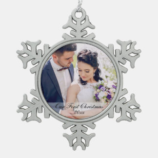 First Christmas Newlywed Wedding Photo Ornament SW