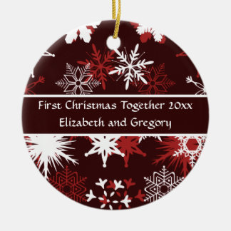 First Christmas together Ceramic Ornament