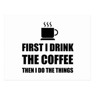 First Coffee Then Do Stuff Postcard