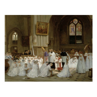 First Communion, 1867 Postcard