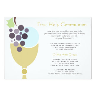 "First Communion 5"" X 7"" Invitation Card"