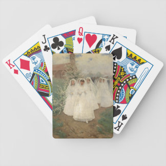First Communion Bicycle Playing Cards