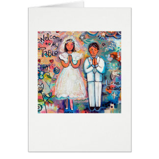 First Communion Boy and Girl Invite/Greeting Card