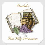 First Communion Chalice, Bible, Grapes