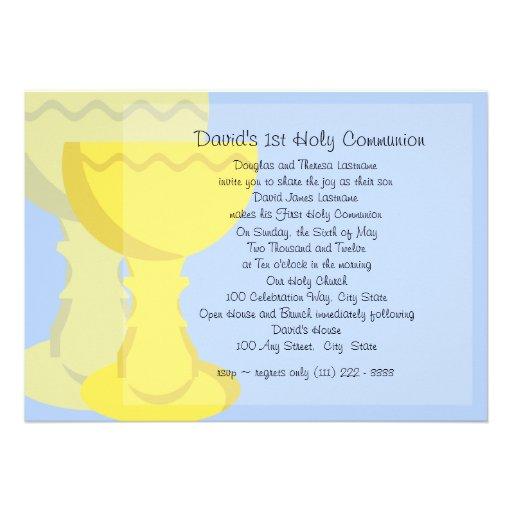 First Communion Chalice Invitations
