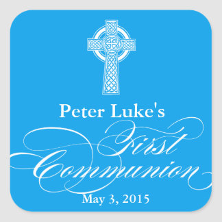 First Communion Favor Labels | Envelope Seals Square Sticker
