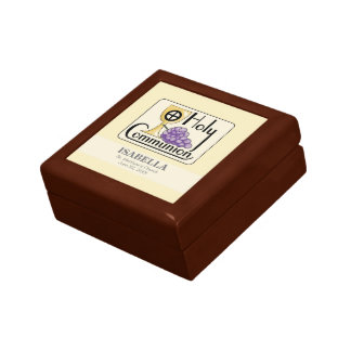 First Communion Grapes and Cup, Customizable Gift Box