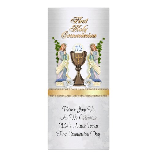 First  communion invitation Customize boy or girl