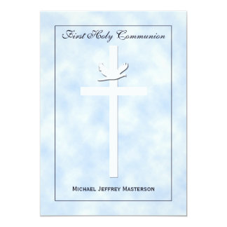 First Communion Invitation for Boys