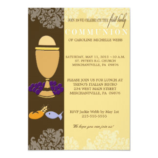 First Communion Invitation for Boys or Girls