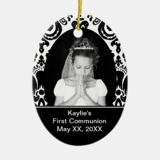 First Communion Oval Ornament