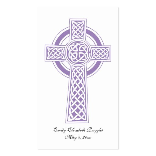 First Communion Prayer Card Business Cards