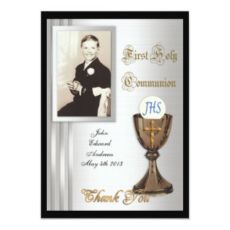 First Communion Thank you card Photo