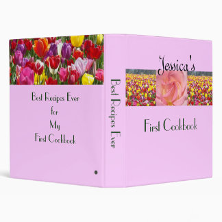 First Cookbook recipes binders Daughter's Name