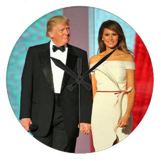 First Couple Donald and Melania Trump Inauguration Large Clock
